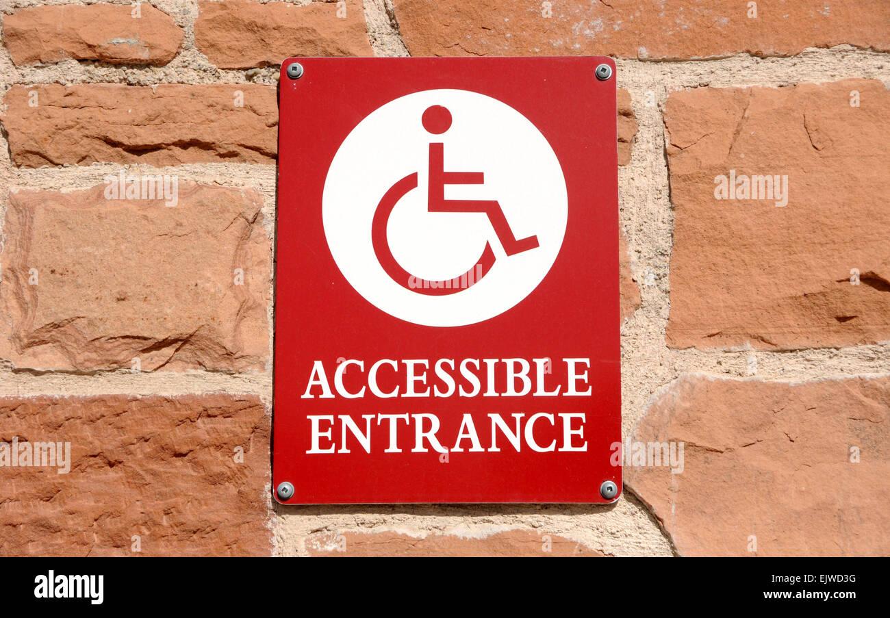 disabled entrance wheelchair accessible stock photos disabled