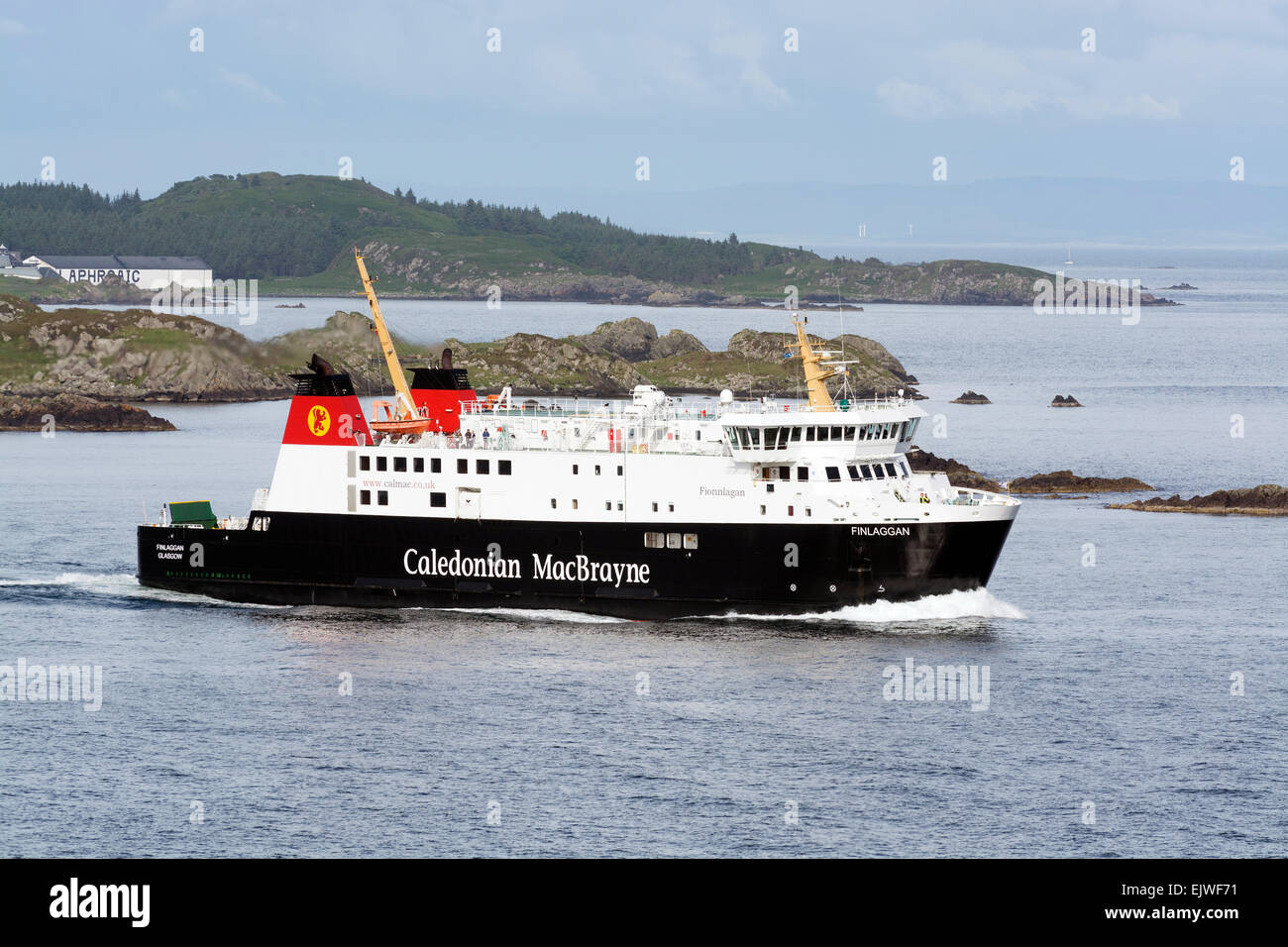 mv finlaggan calmac caledonian macbrayne ferry car port ellen kennacraig toute Stock Photo