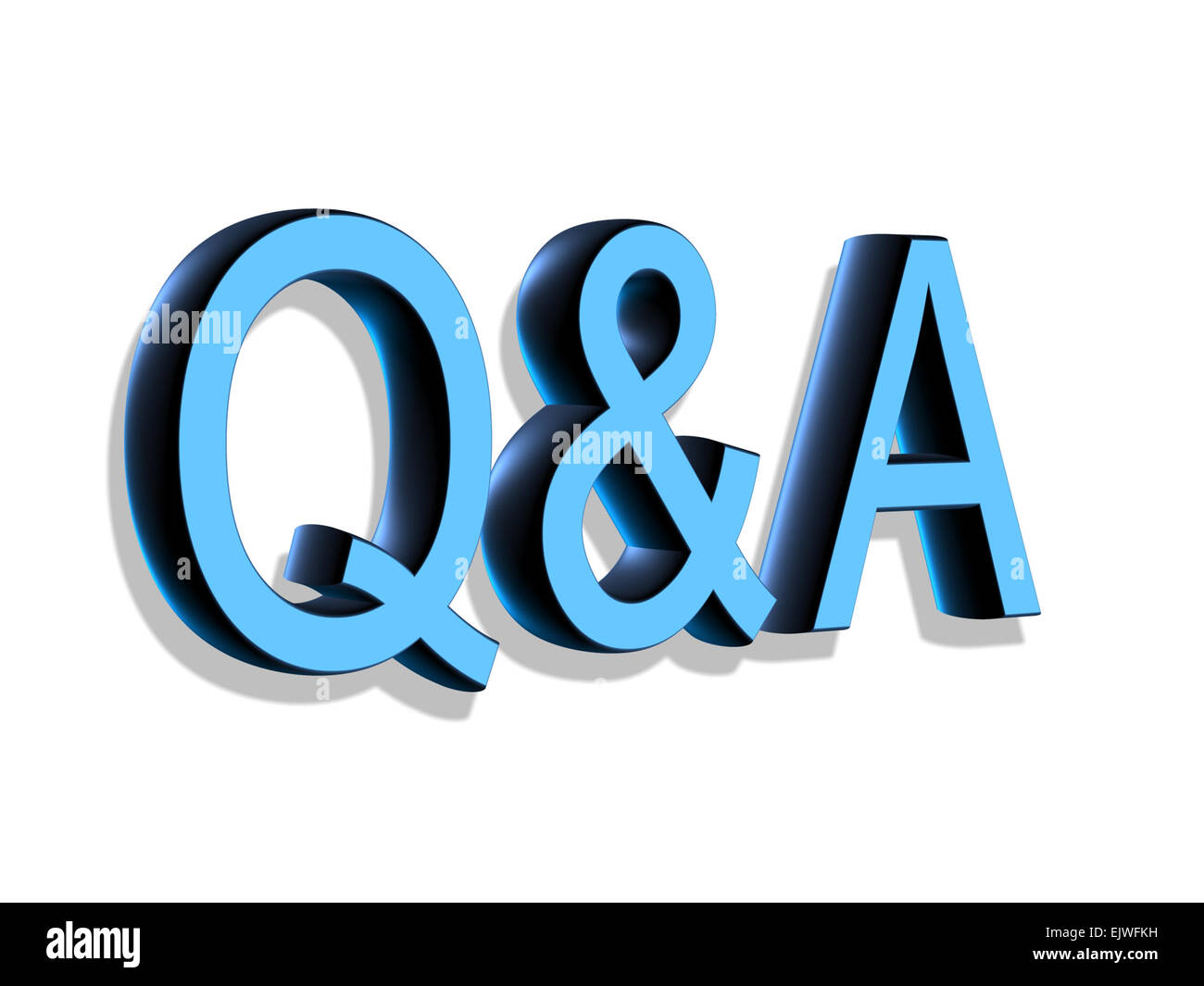 3D Lettering Q&A questions and answers - Stock Image