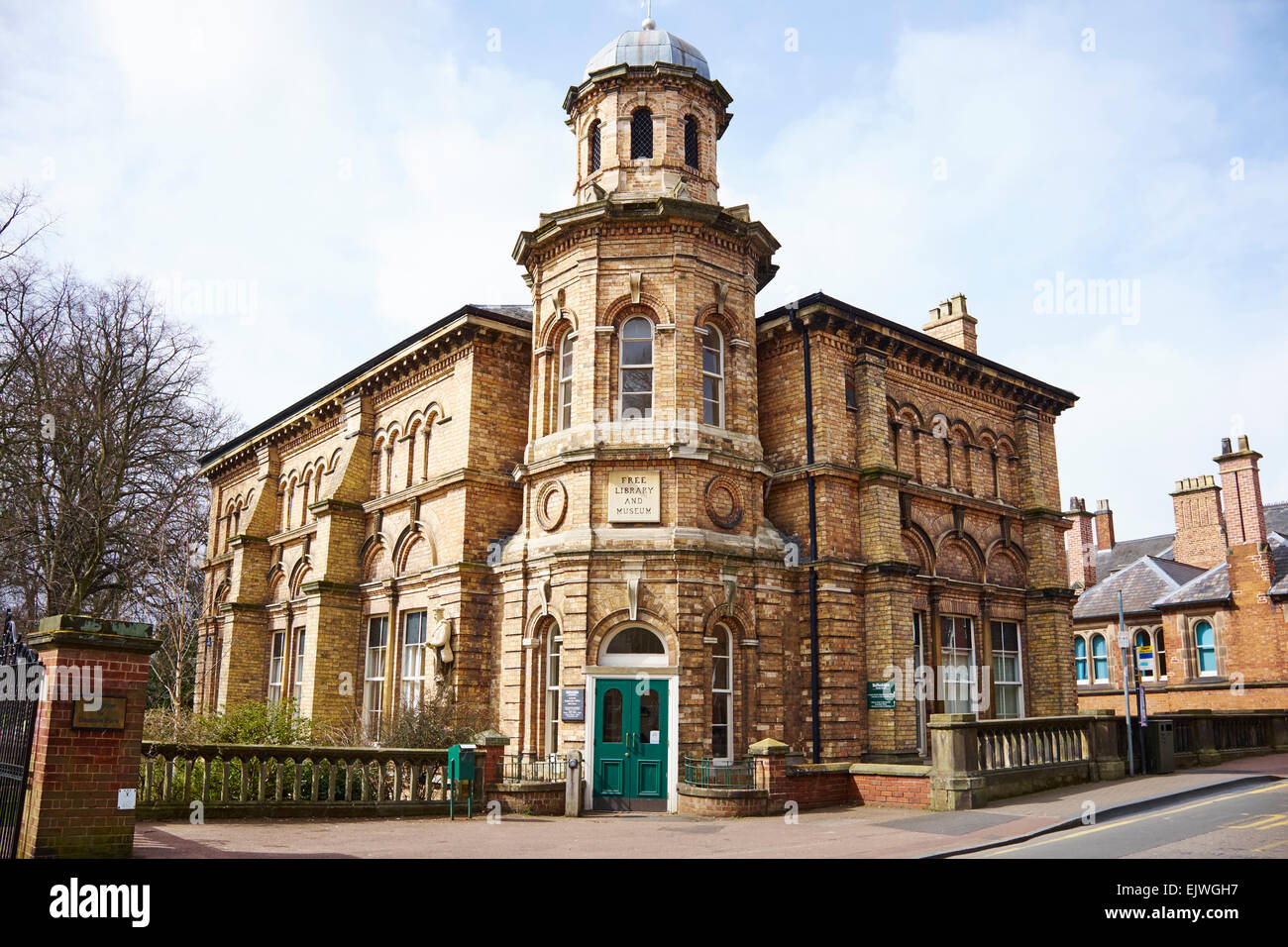 The Former Free Library And Museum Bird Street Lichfield Staffordshire UK - Stock Image