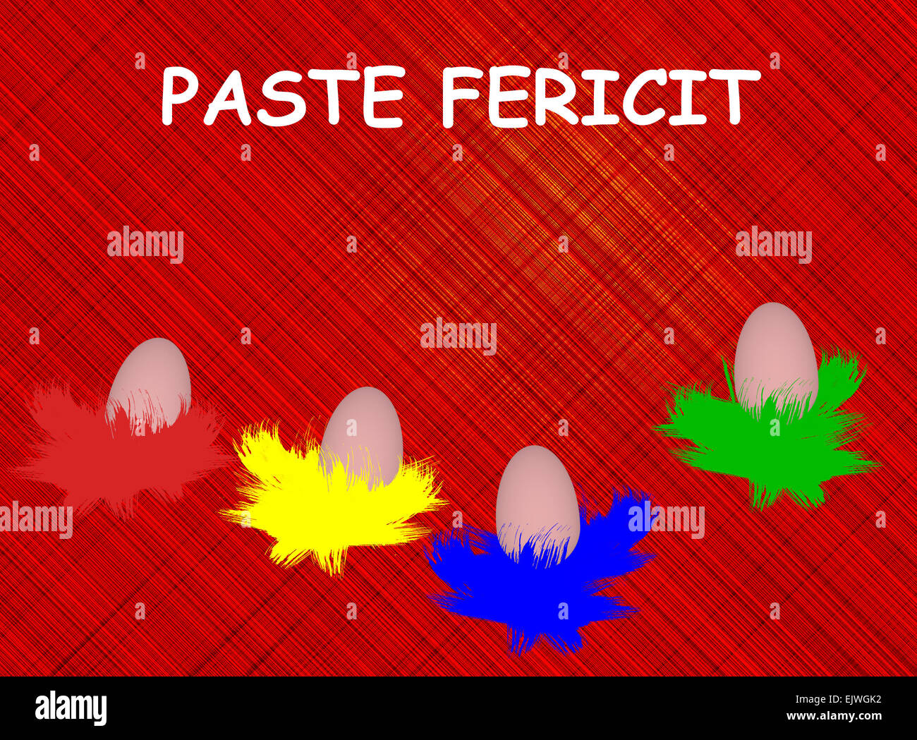 Traditional easter eggs traditional colors romanian easter stock traditional easter eggs traditional colors romanian easter greeting paste fericit happy easter illustration m4hsunfo