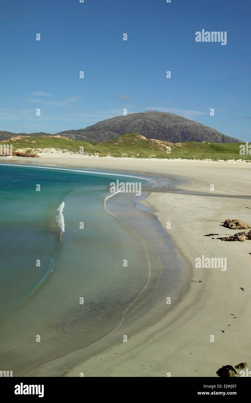 beach at uig lewis outer hebrides - Stock Image