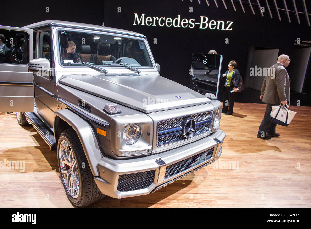A Mercedes Benz G65 Amg On Display The The New York International Auto Show The Suv Boasts A 12 Cylinder Engine Credit Ed Lefkowicz Alamy Live News