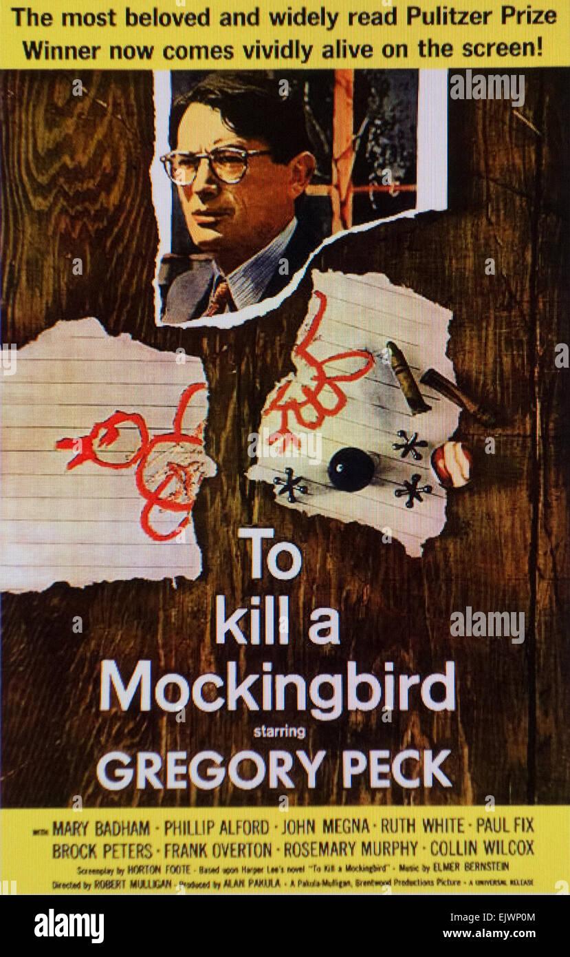 """""""TO KILL A MOCKINGBIRD"""" movie poster Stock Photo"""