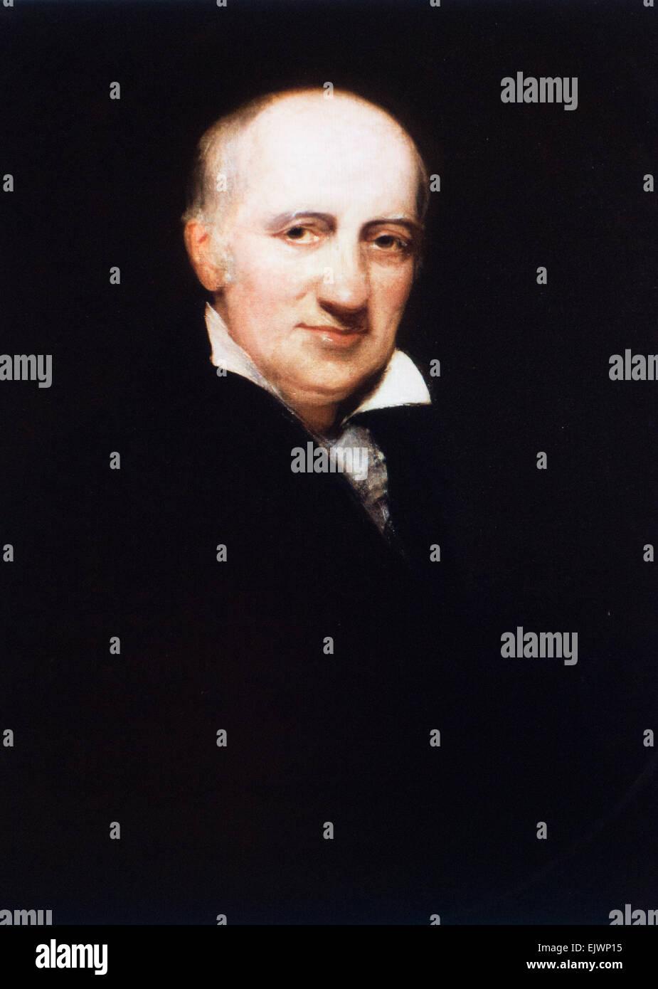 'William Godwin' portrait English journalist - Stock Image