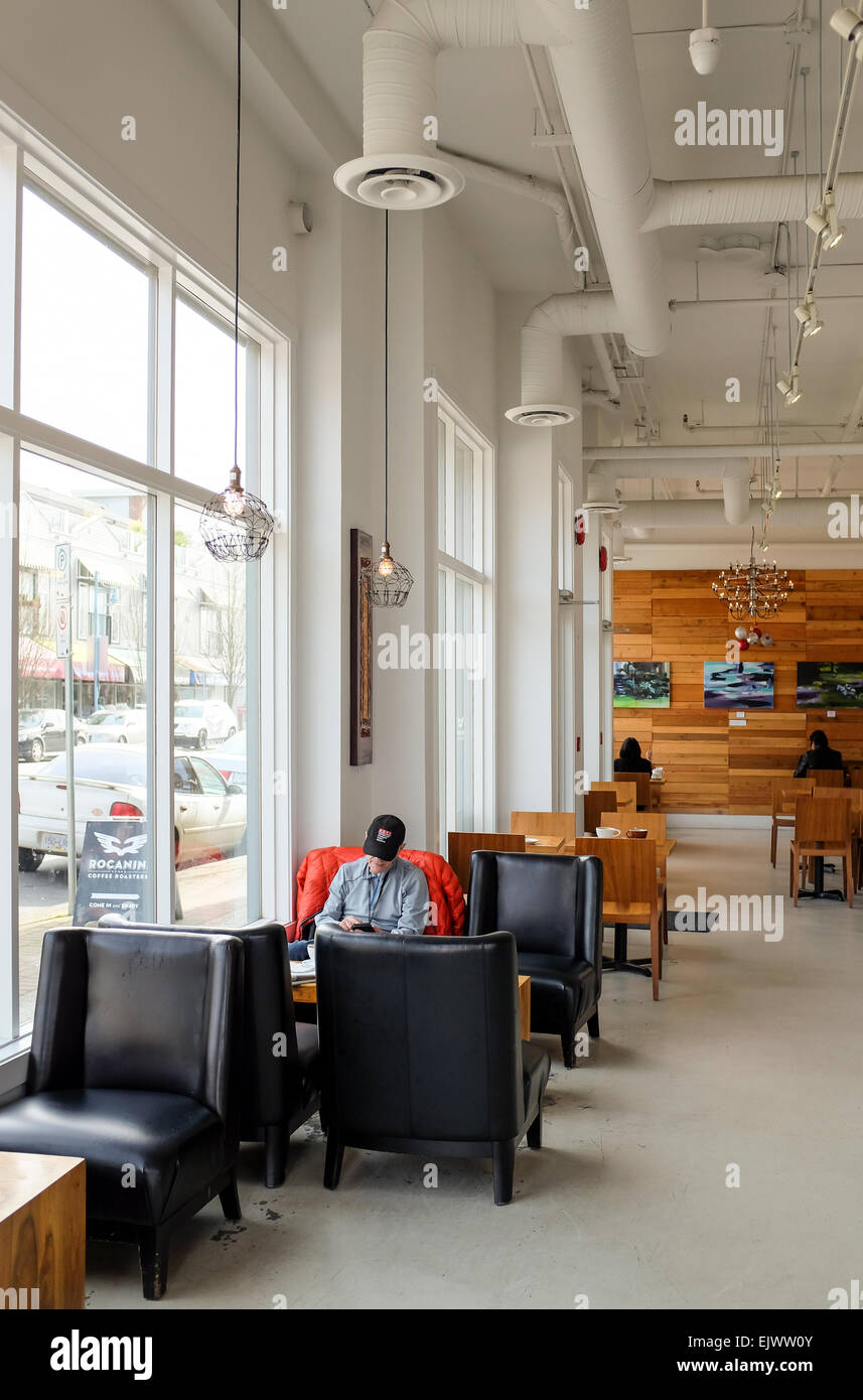 Rocanini Coffee Roasters Cafe, Steveston Village, Richmond, BC, Canada - Stock Image