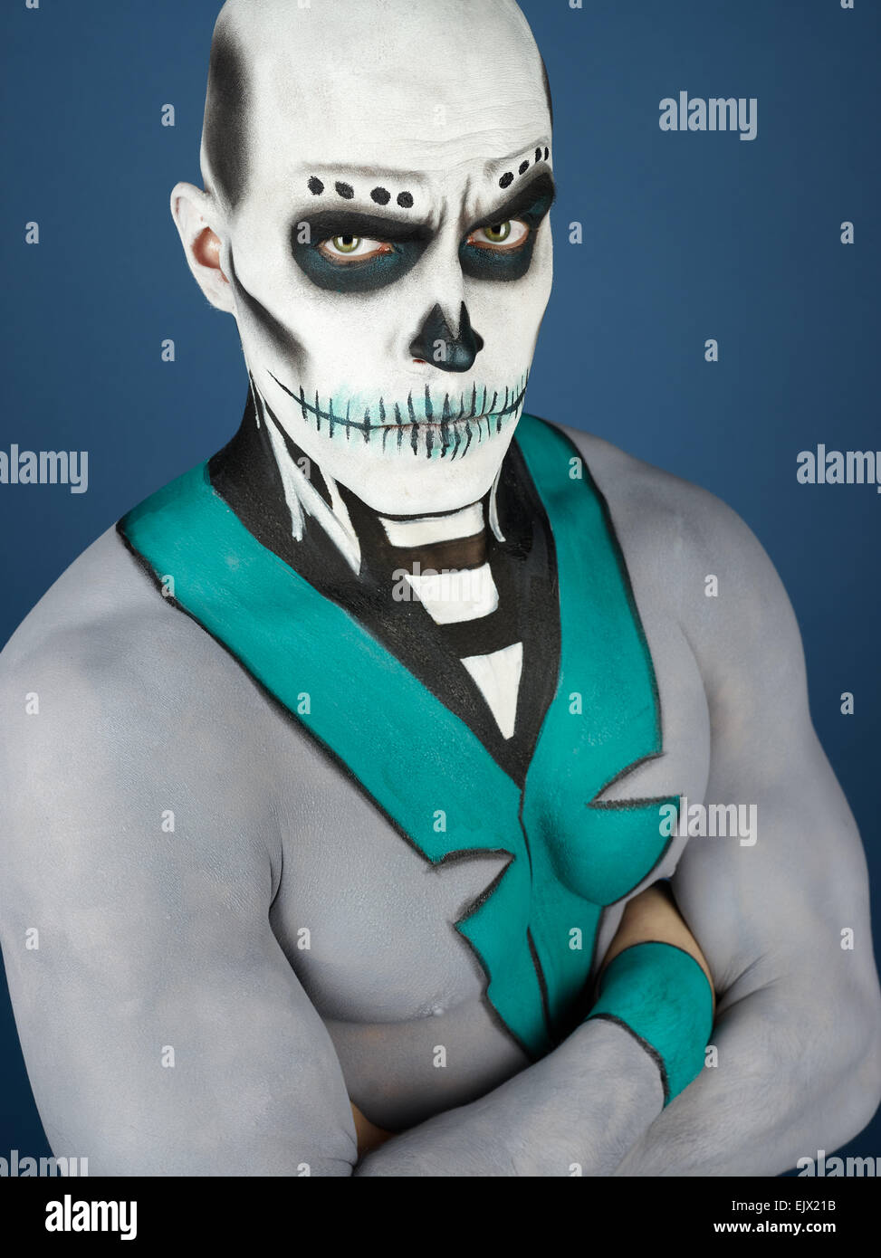 Dia de los Muertos - the Day of the Dead, painted male - Stock Image