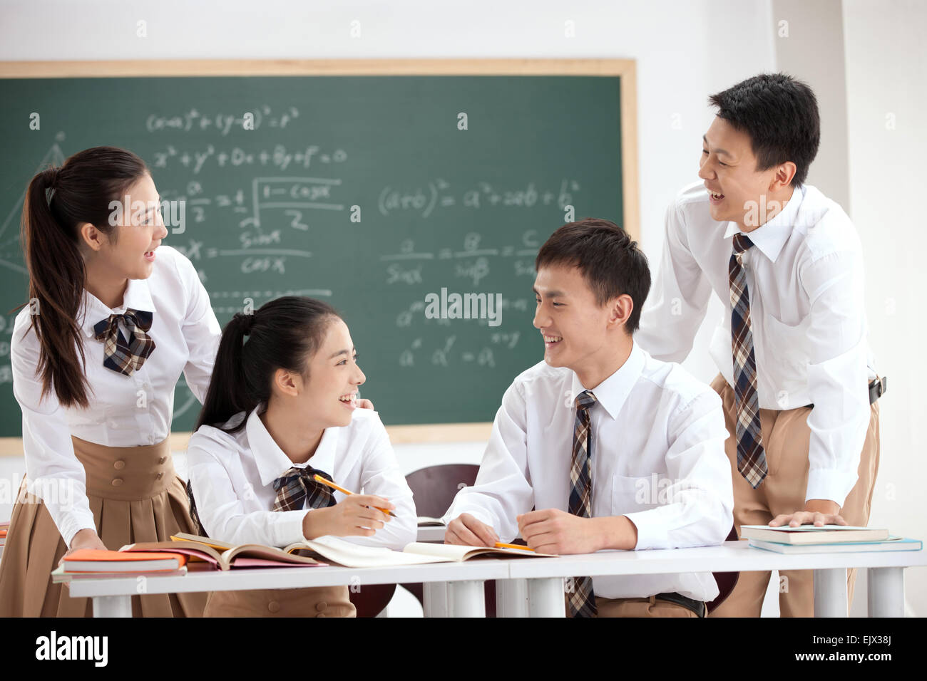 High school students to speak in the classroom - Stock Image