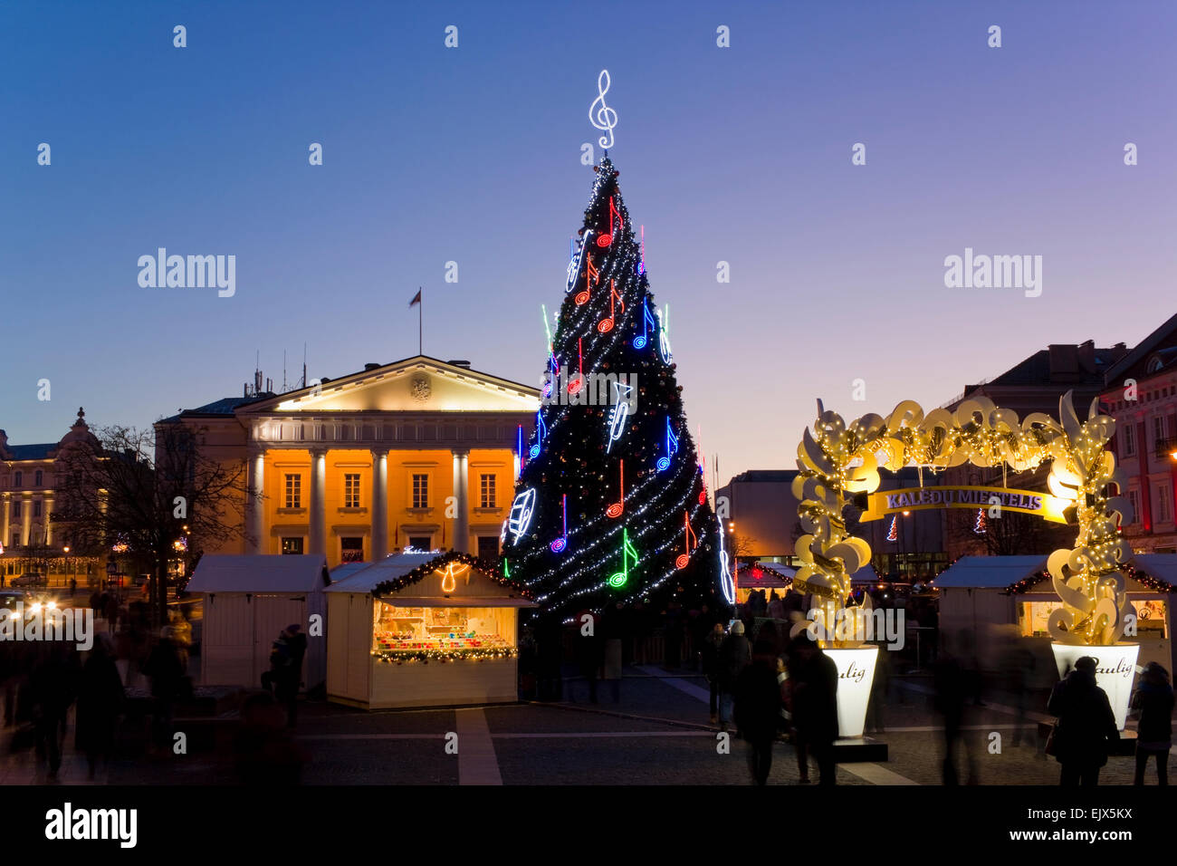 VILNIUS, LITHUANIA - DECEMBER 26, 2014: Paulig coffee - the sponsor of Christmas holidays in Baltic countries. Brand - Stock Image