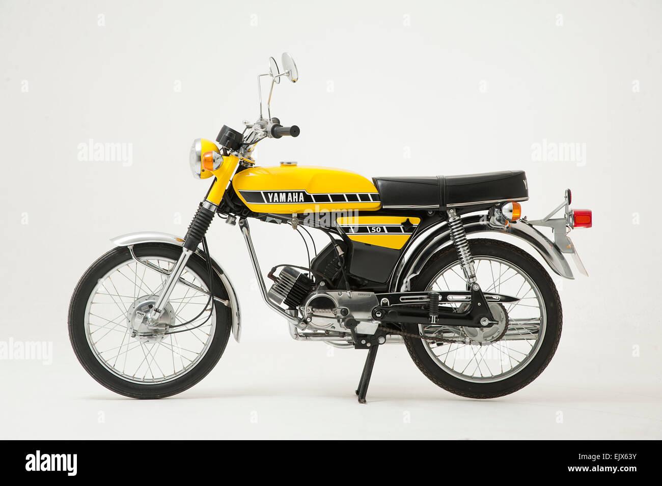 1987 Yamaha FS1E moped - Stock Image