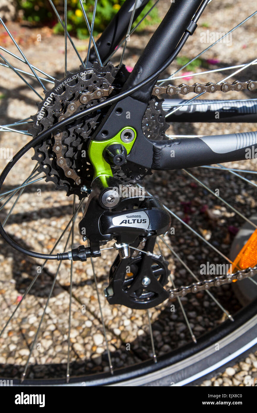 Bicycle gearing gears - Stock Image