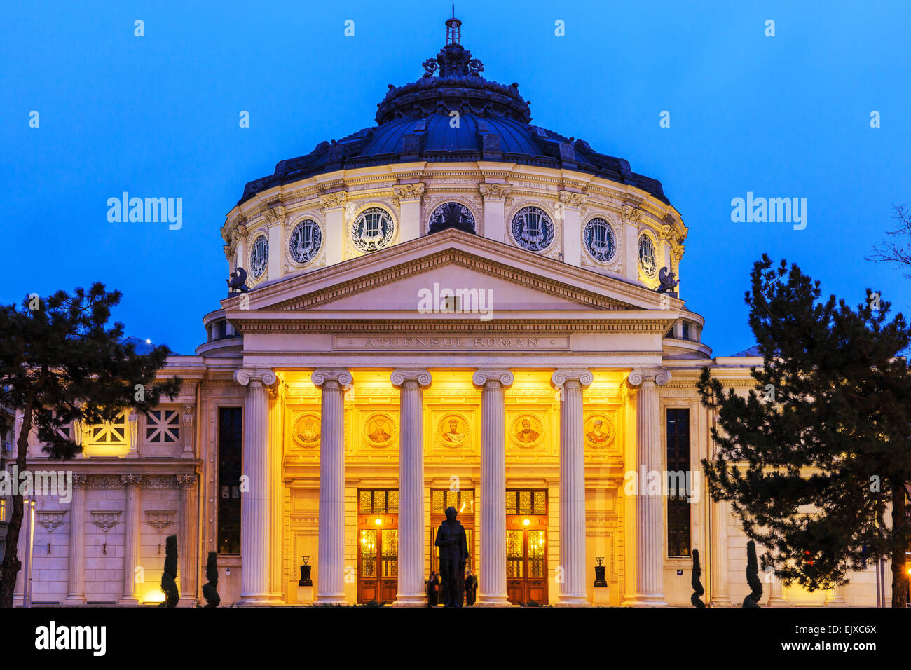 Romanian Athenaeum Bucharest. - Stock Image