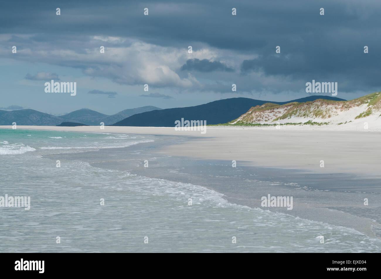 hebridean beach big strand and atlantic sand western isles - Stock Image
