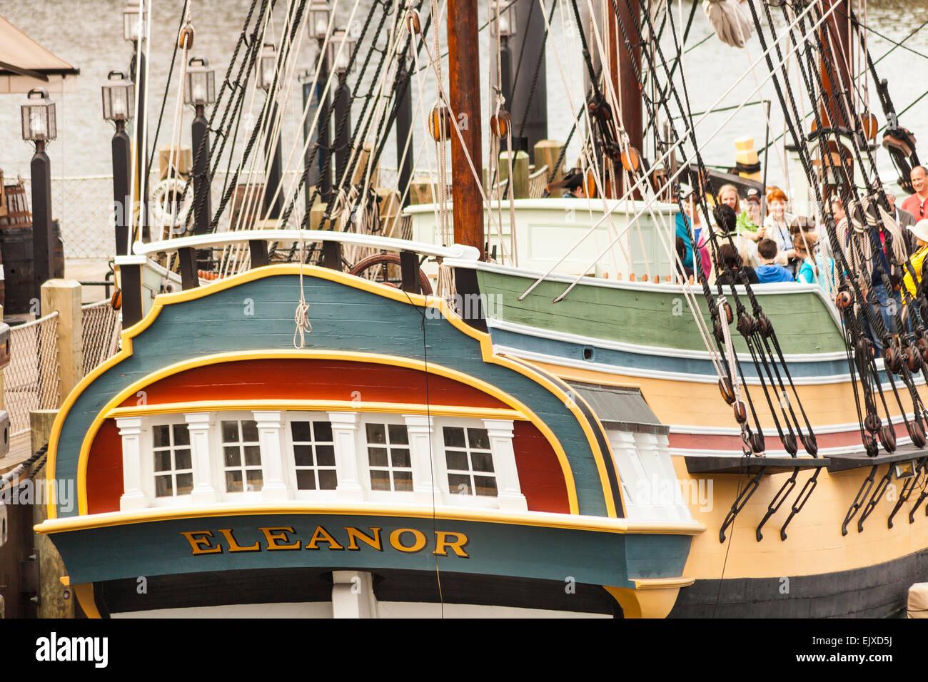 eleanor replica of one of the boston tea party ships outside boston stock photo 80486382 alamy. Black Bedroom Furniture Sets. Home Design Ideas