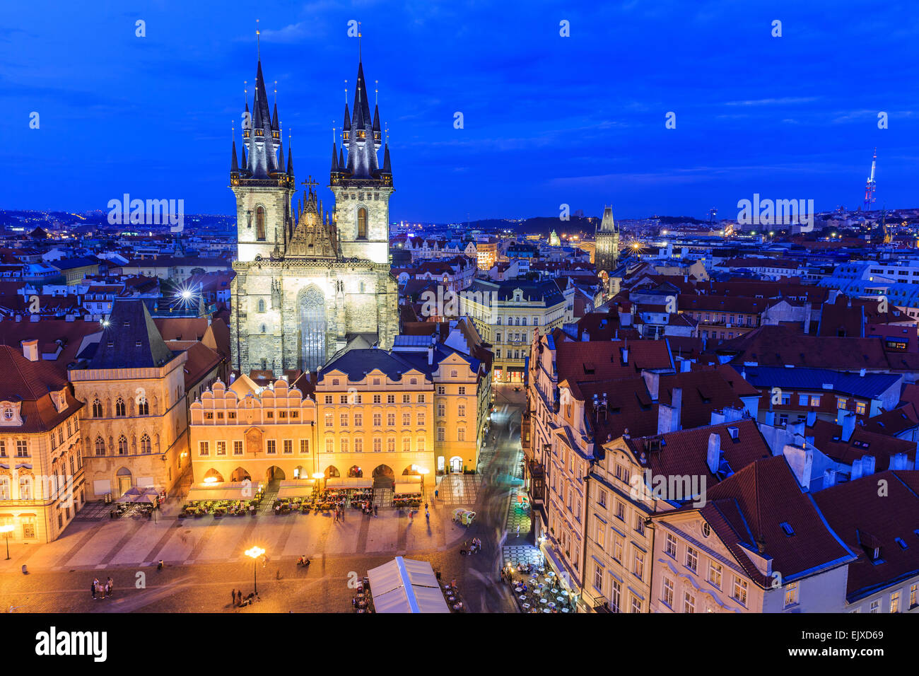Tyn Cathedral. Prague, Czech Republic - Stock Image