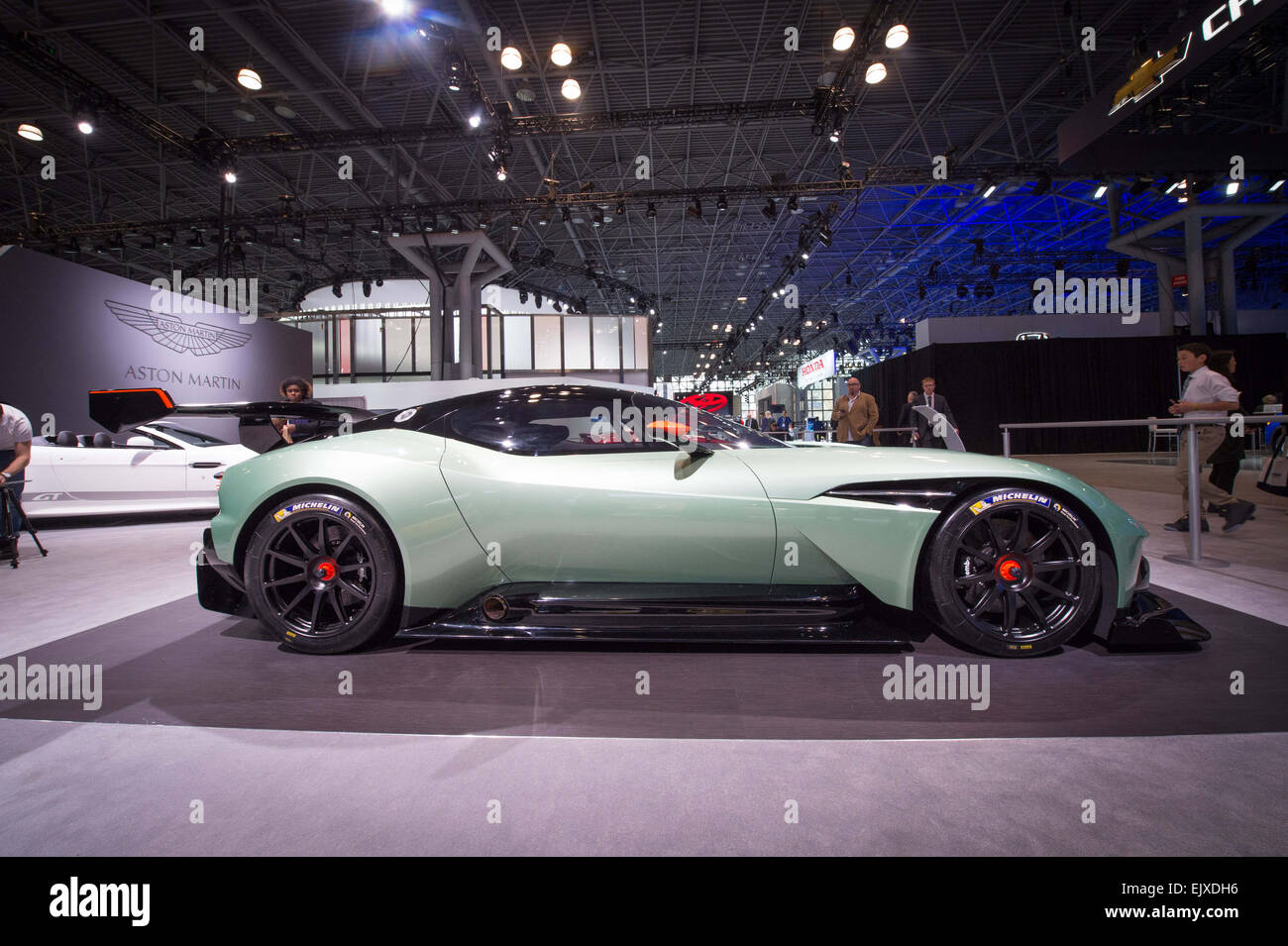 Manhattan, New York, USA. 1st Apr, 2015. Aston Martin Vulcan, limited to a production run of 24, in honor of the - Stock Image