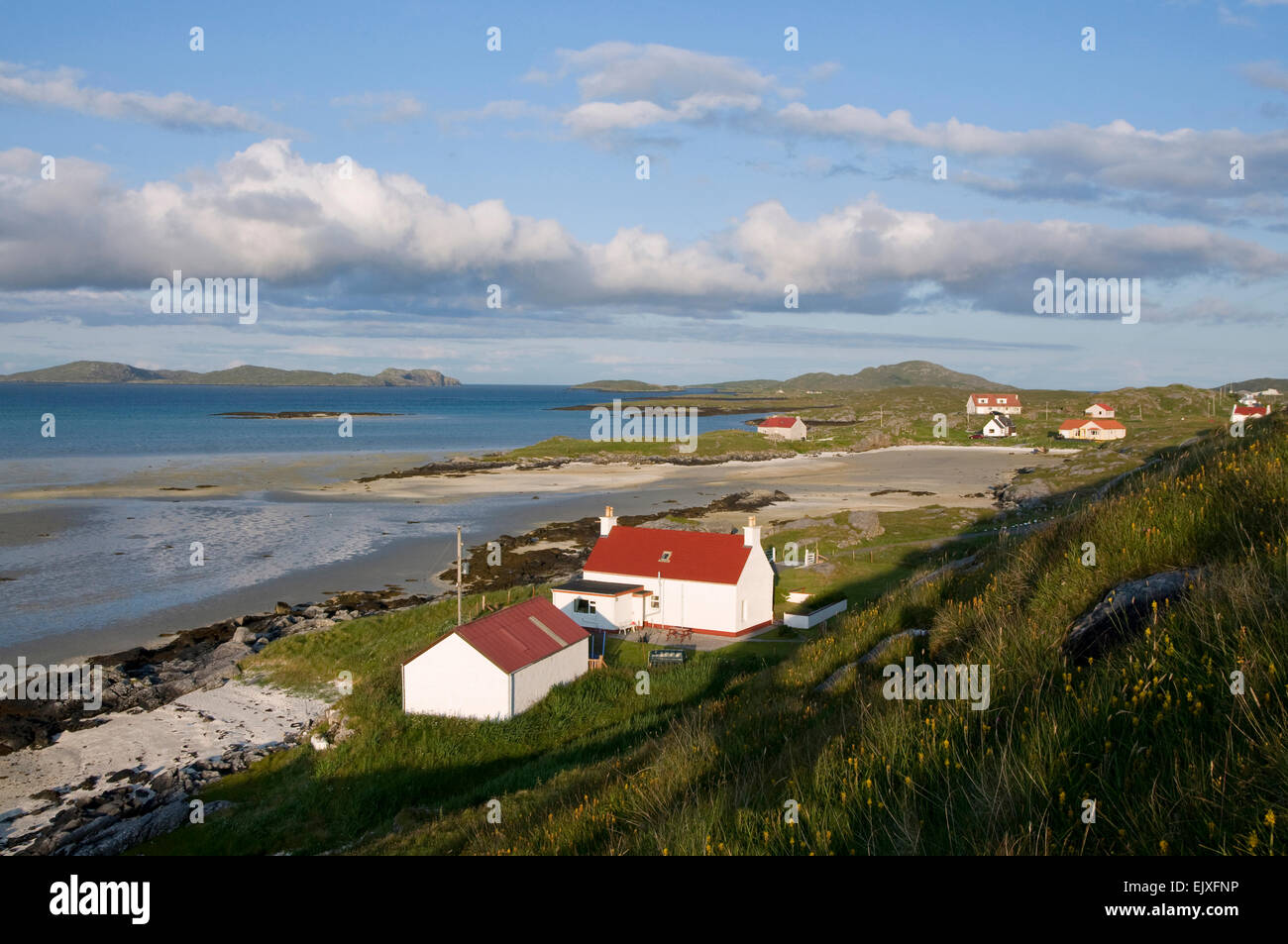 beach barra at  Barra Eoligarry by Airport cottages Stock Photo