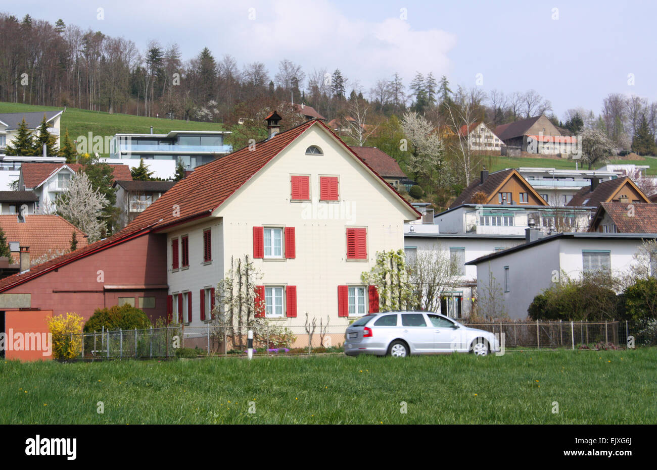 Houses in Switzerland Stock Photo