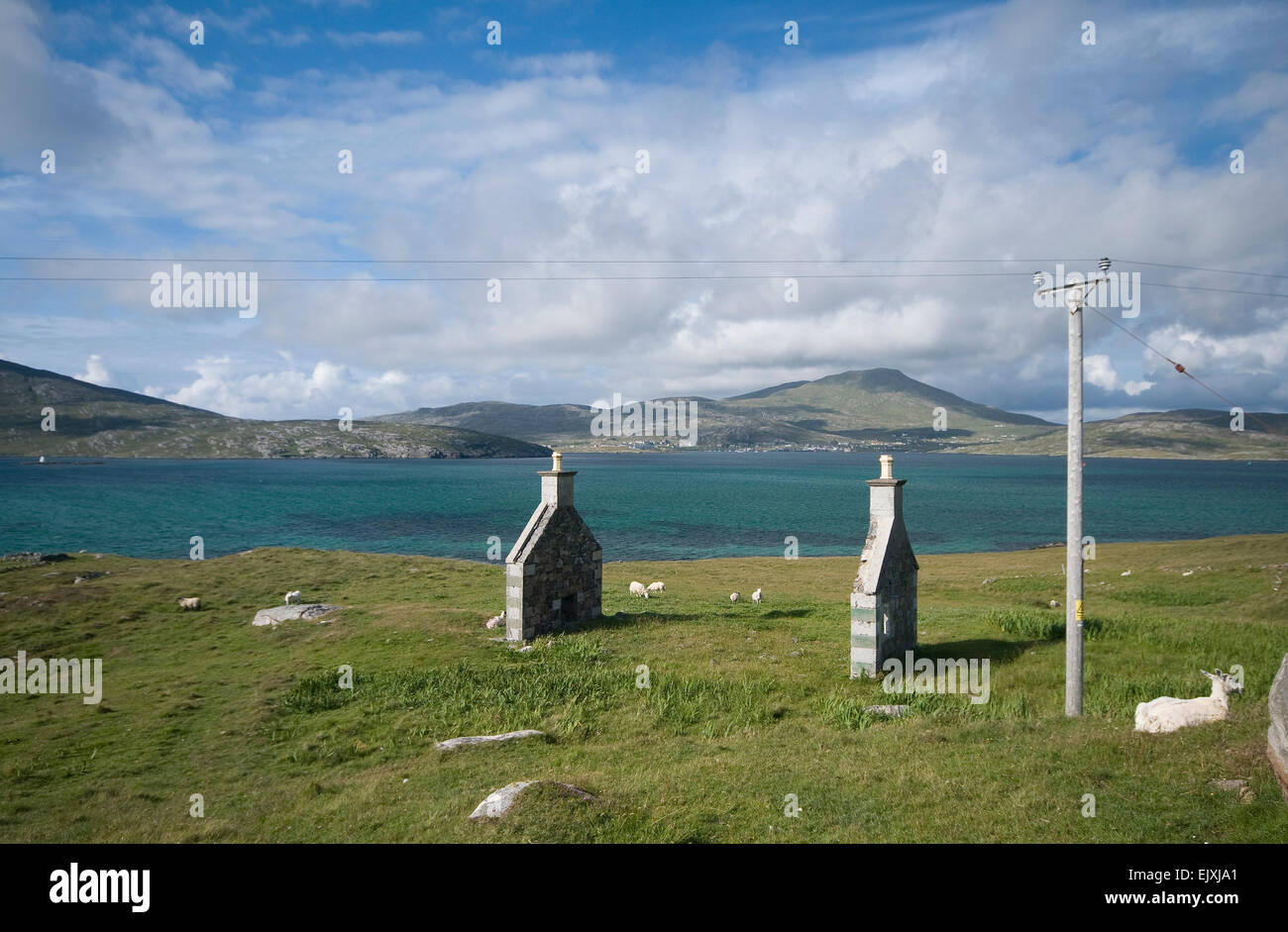 gable ends vatersay - Stock Image