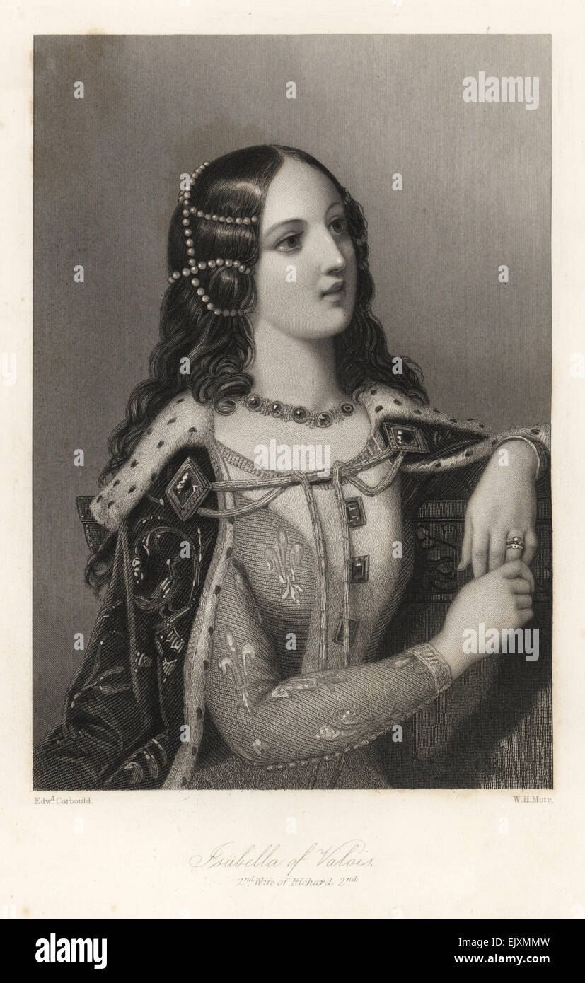 Isabella of Valois, second wife of King Richard II of England. - Stock Image