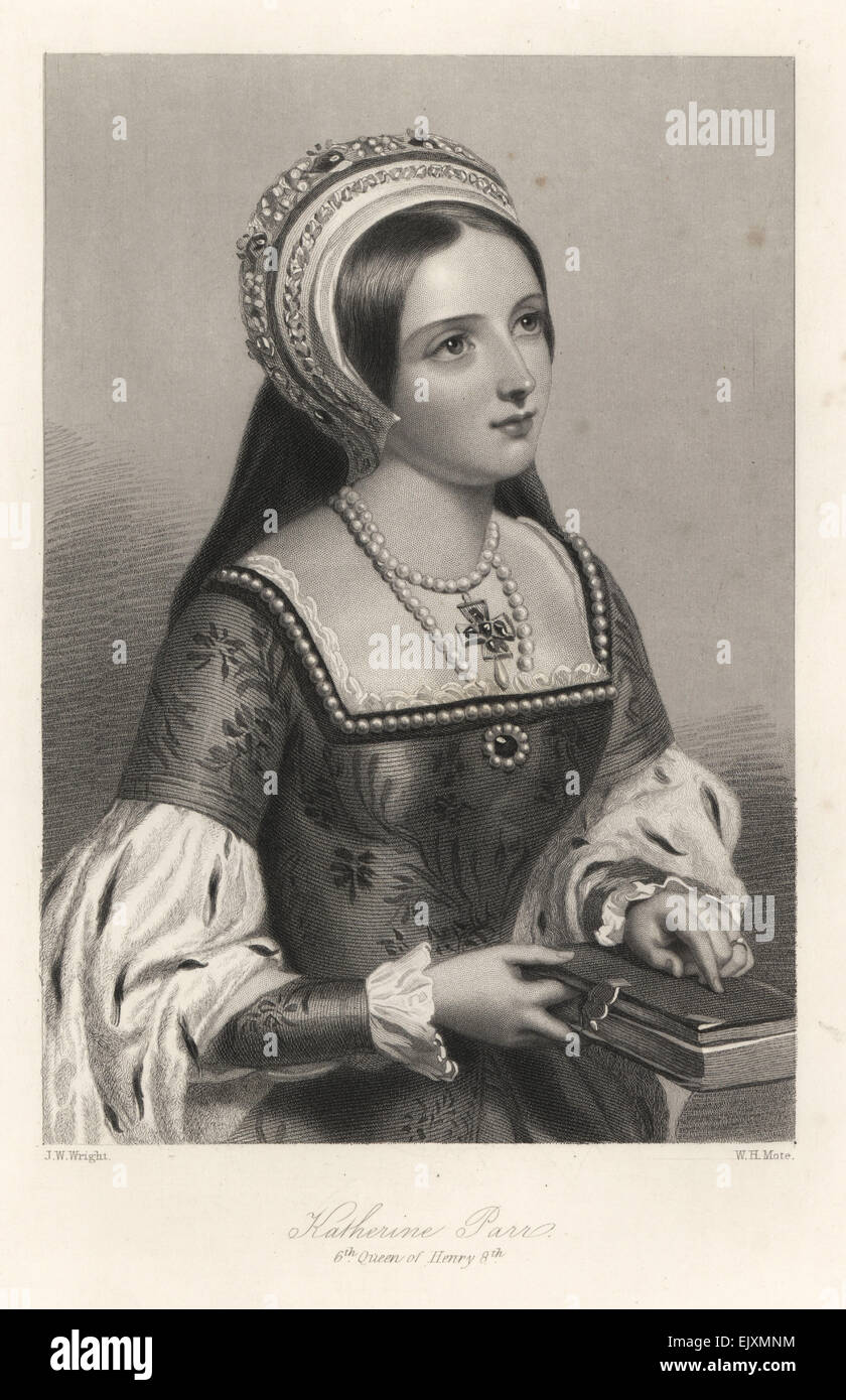 Katherine Parr, sixth queen of King Henry VIII of England. - Stock Image