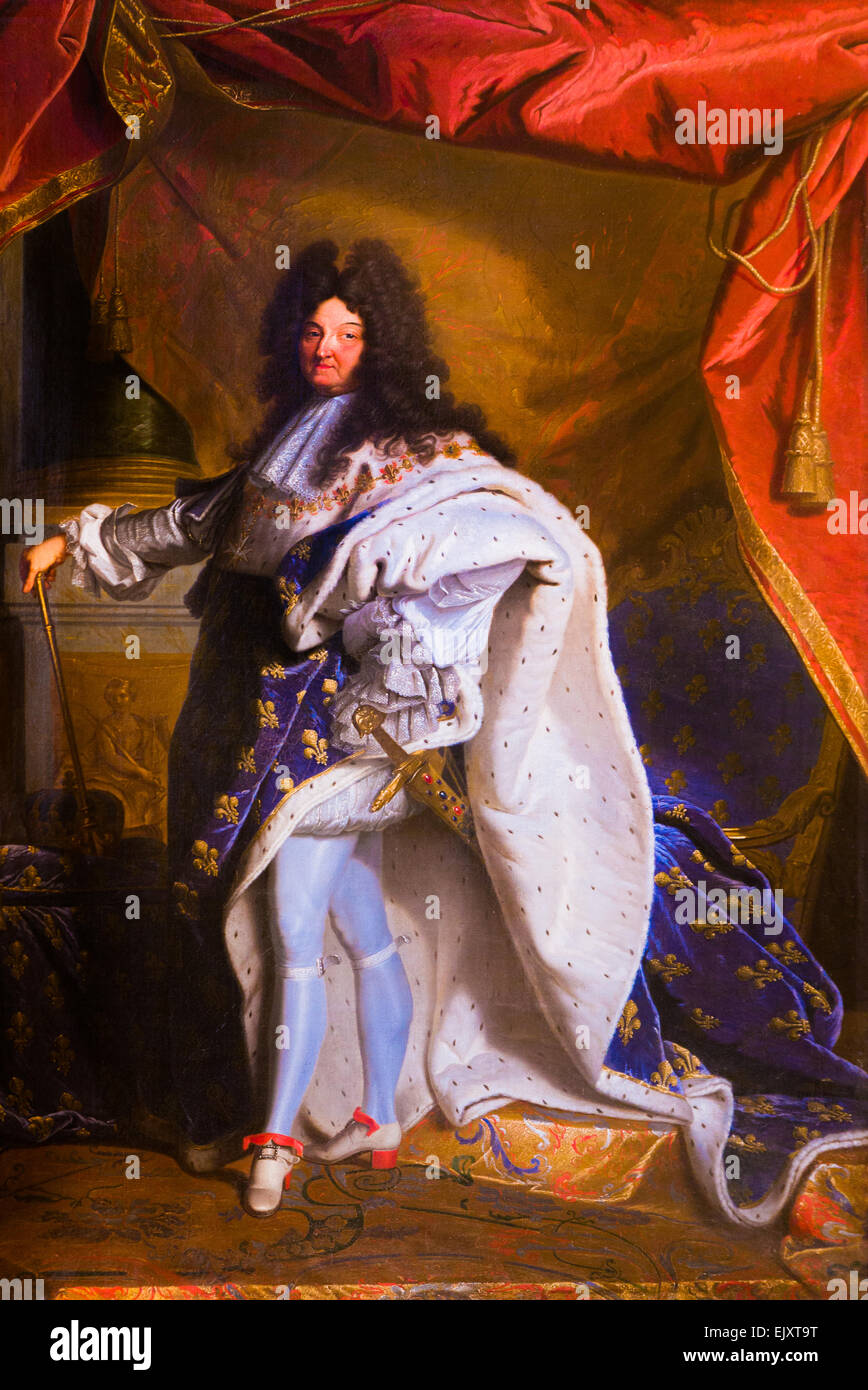 ActiveMuseum_0005992.jpg / Portrait of King Louis XIV in Coronation Robes (according to Hyacinthe Rigaud) 05/12/2013 - Stock Image