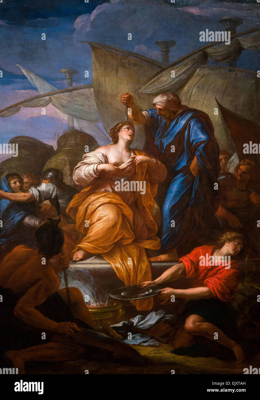 ActiveMuseum_0006012.jpg / The sacrifice of Polyxena, inspired by Ovid's Metamorphoses, recounts how after the - Stock Image