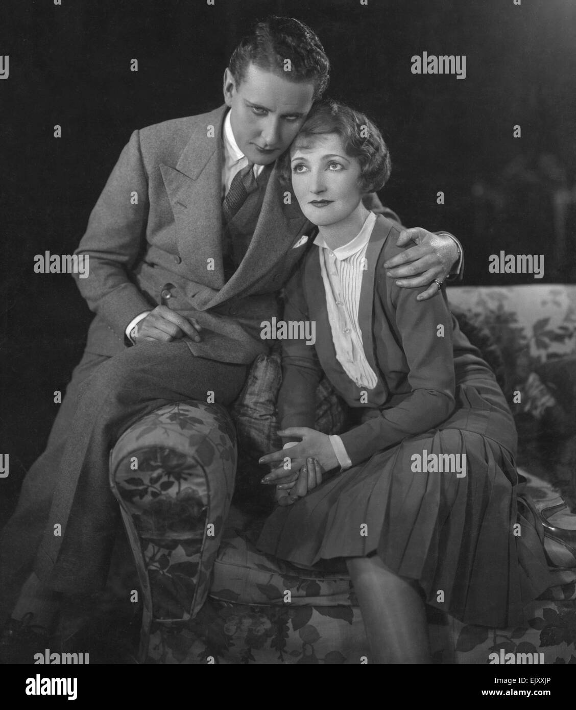 Scene from the play The Man At Six. 20 August 1929. - Stock Image