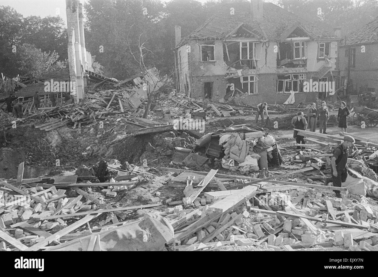 the aftermath of v2 explosion on the 8th september 1944 a huge