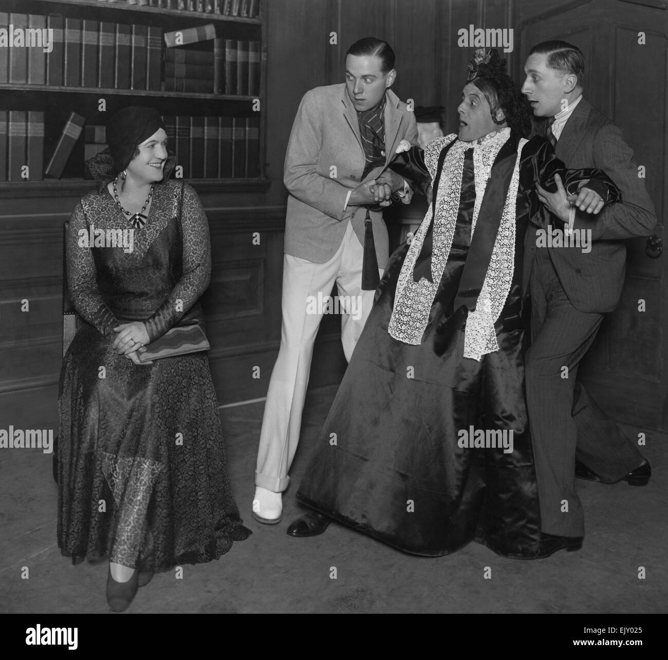 Scene from the play Charley's Aunt. 24 December 1929. - Stock Image