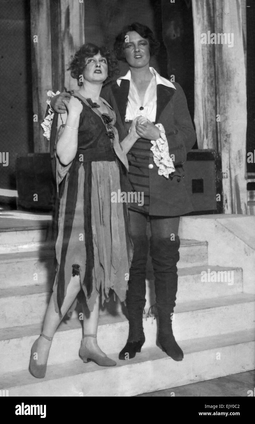 Scene from the play Robin Hood. 18th January 1922. Stock Photo