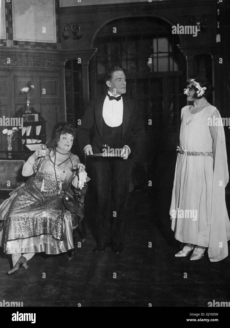 Scene from the theatre play Hawley's Of The High Street. 13 September 1922. - Stock Image