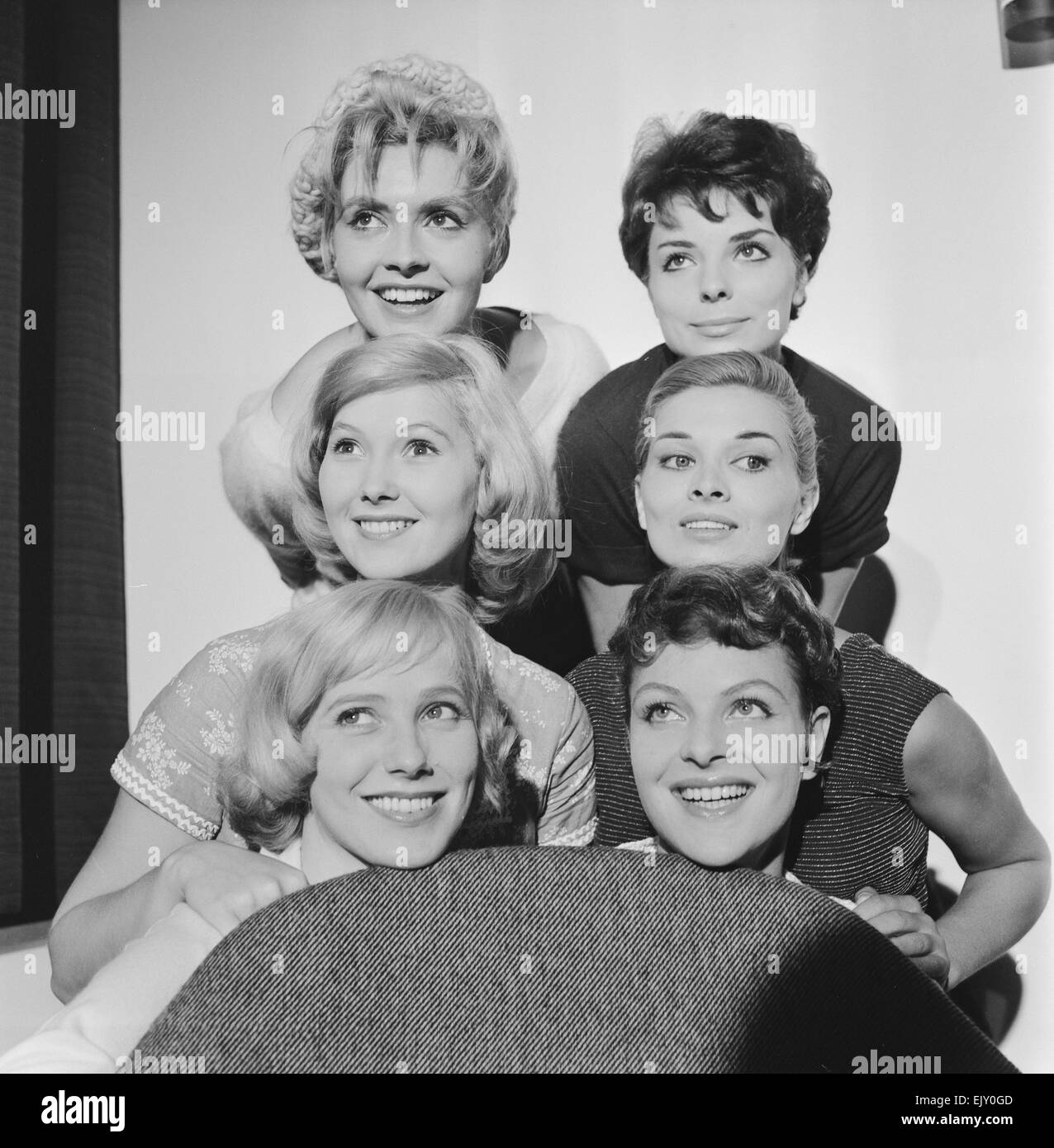 Photocall with stars of Women In Love, six short plays based around the theme of women in love, 10th September 1958. - Stock Image