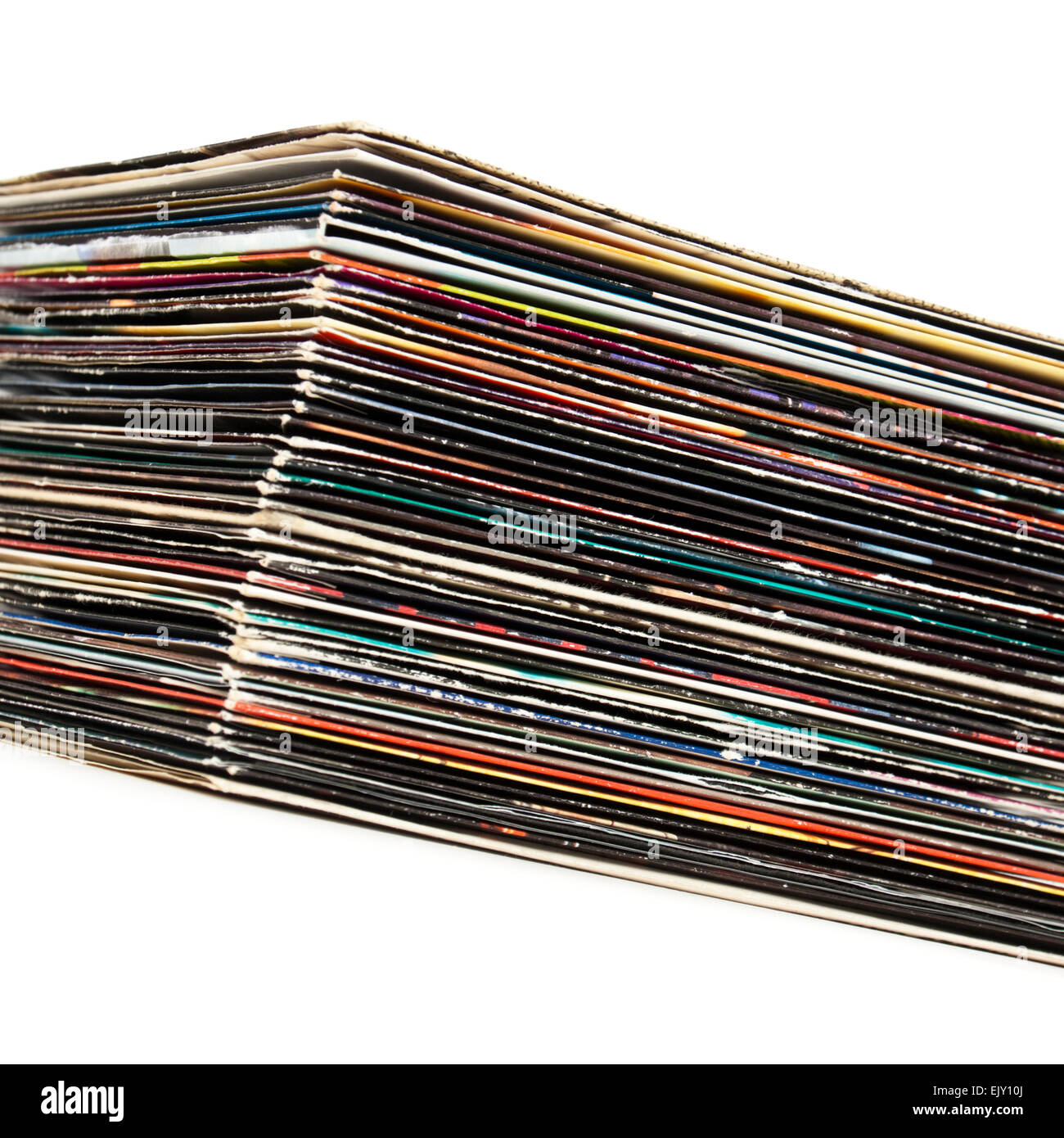 Collection of vintage 7' vinyl records / singles - Stock Image