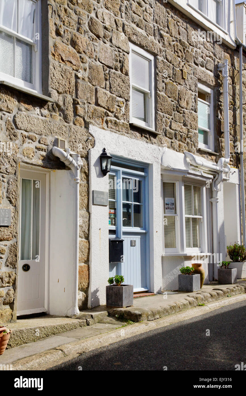 St Ives a charming historic seaside town  in Cornwall England UK St Nicholas Cottage Downalong Stock Photo
