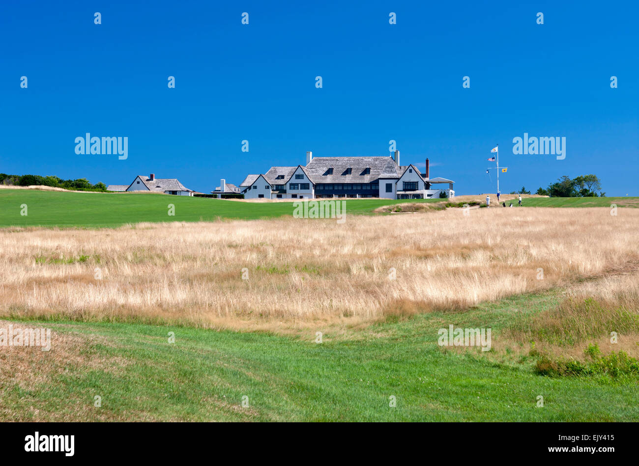 CLUBHOUSE MAIDSTONE PRIVATE CLUB EAST HAMPTON LONG ISLAND NEW YORK STATE USA - Stock Image
