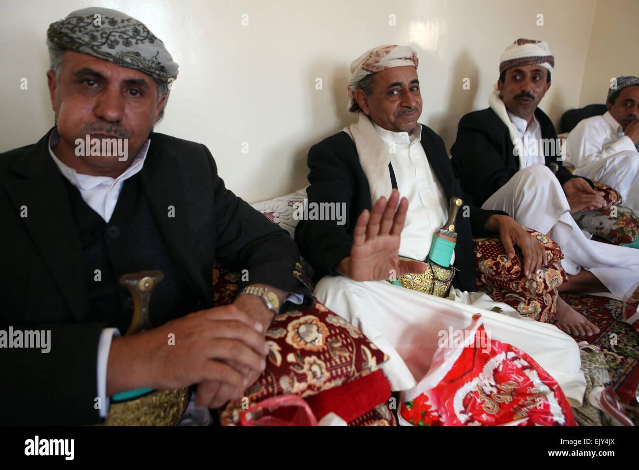 A wedding in Al Manakha, Yemen. - Stock Image