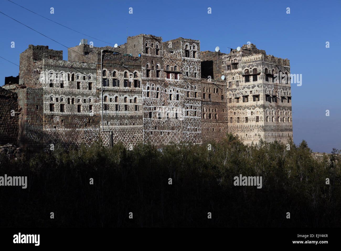 Architecture in Yemen. - Stock Image