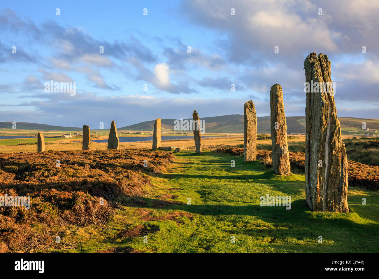 The Ring of Brodgar stone circle on Mainland Orkney. - Stock Image