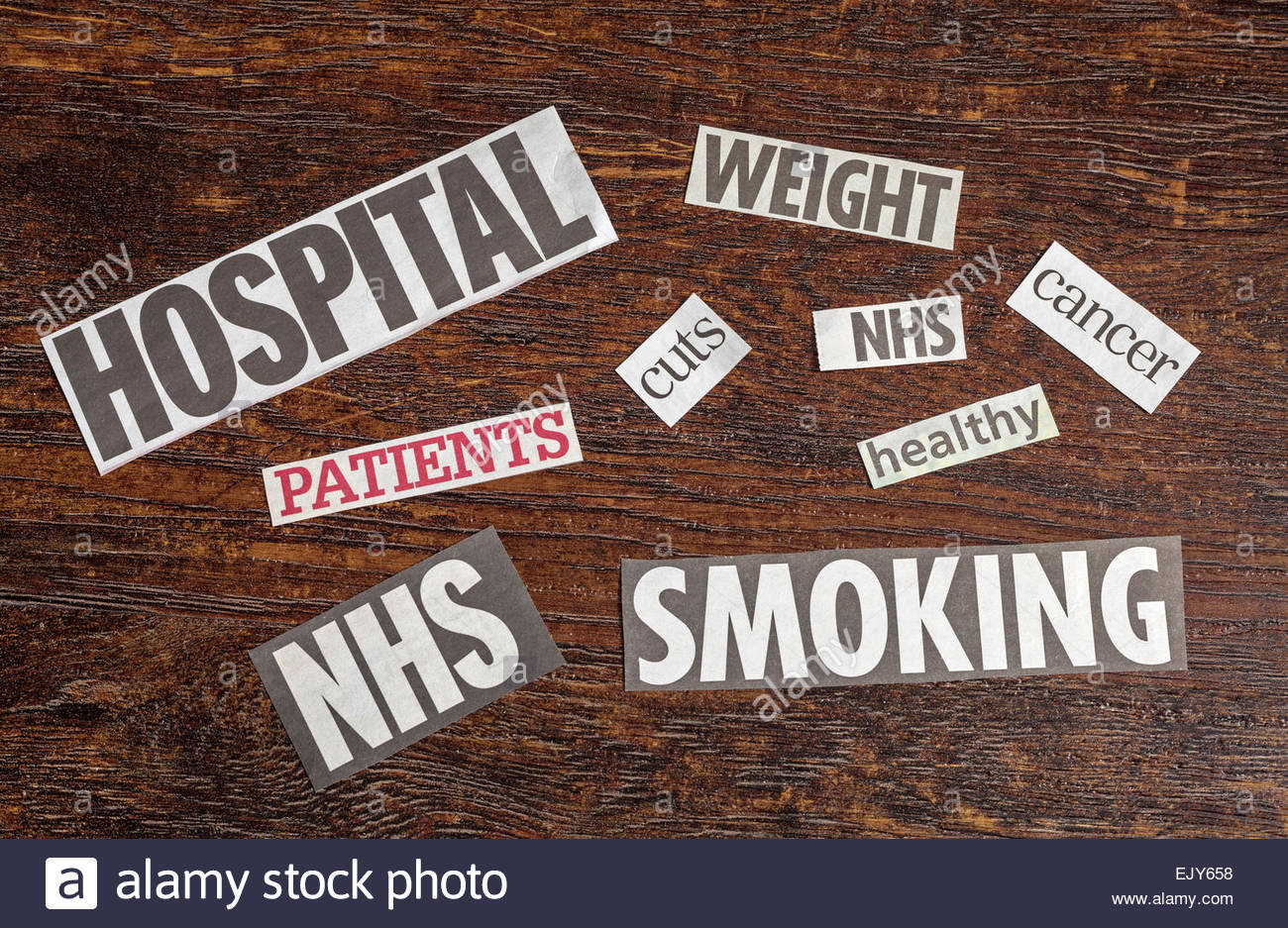 Words relating to health issues - Stock Image