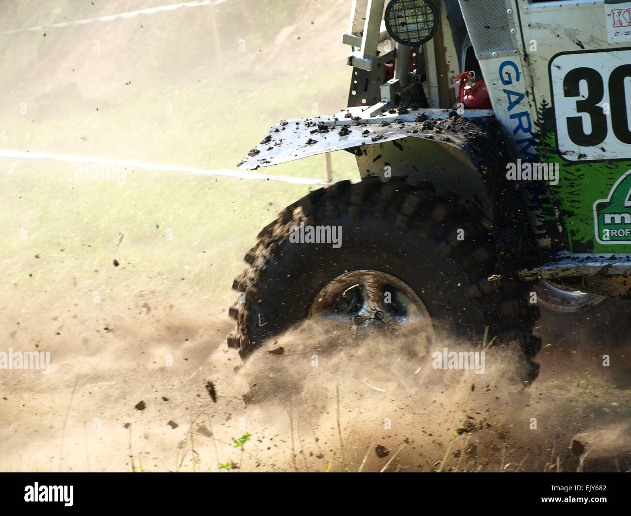 Offroad racing drift - Stock Image