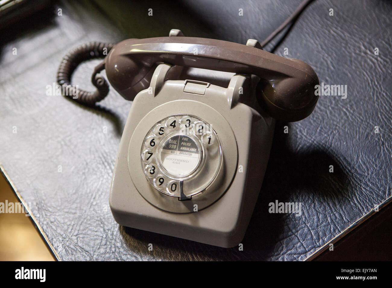 Classic telephone - Stock Image