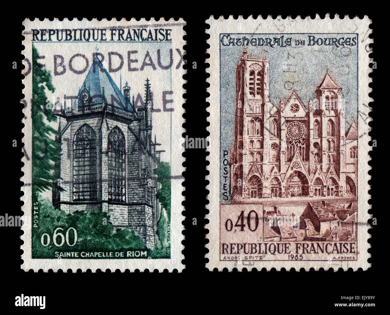 French Postage Stamps - Stock Image