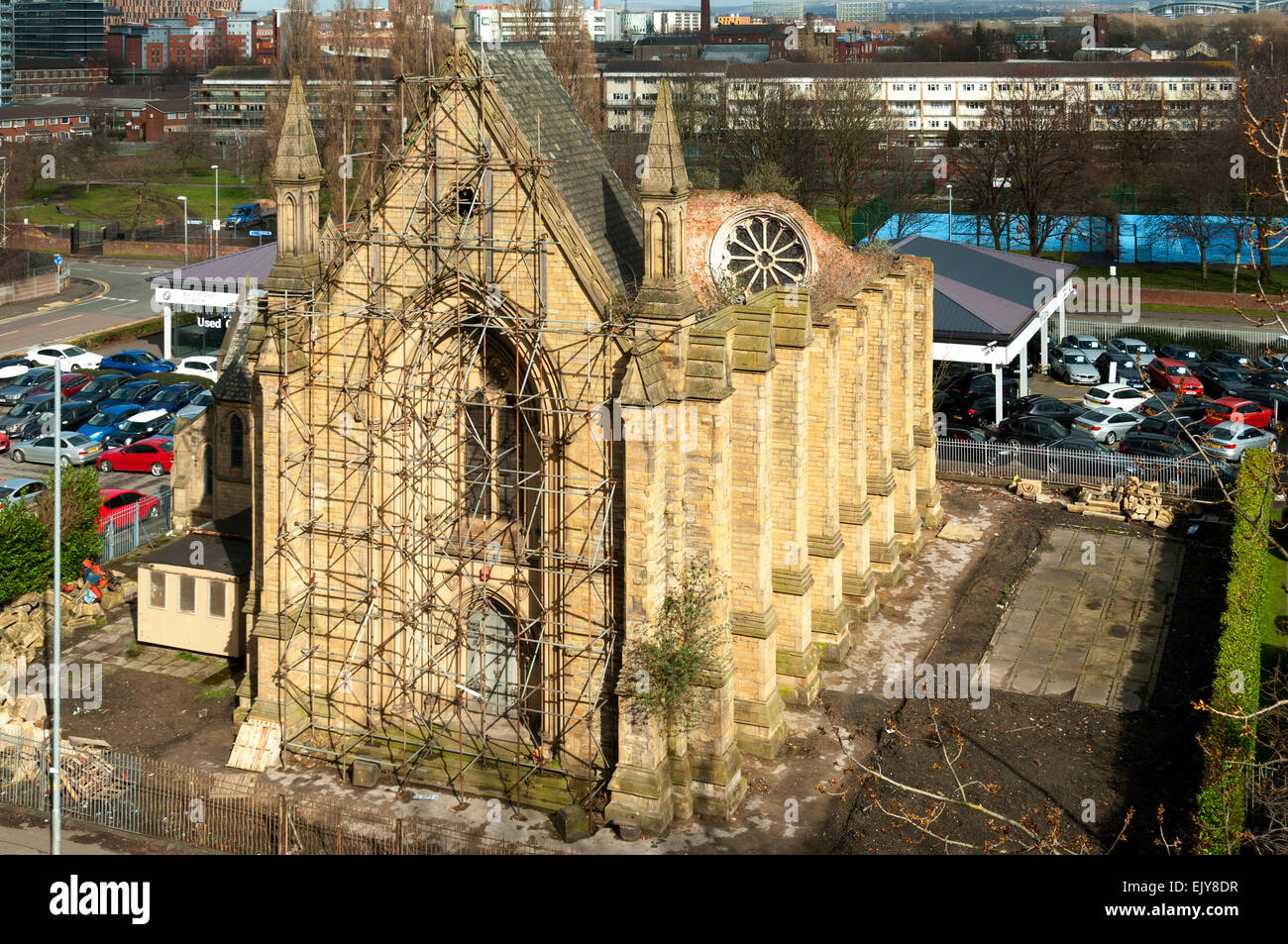 Upper Brook Street Chapel, designed by Sir Charles Barry, constructed 1837-1839, Upper Brook Street, Manchester, - Stock Image