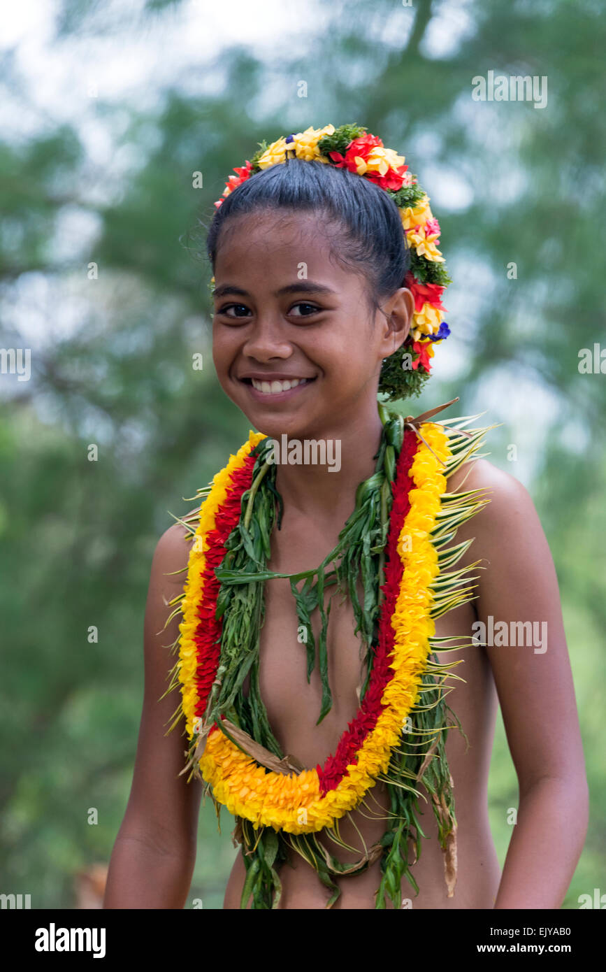Island Girl Candy Mac Velvet Teddy Dupe: Yapese Girl In Traditional Clothing At Yap Day Festival