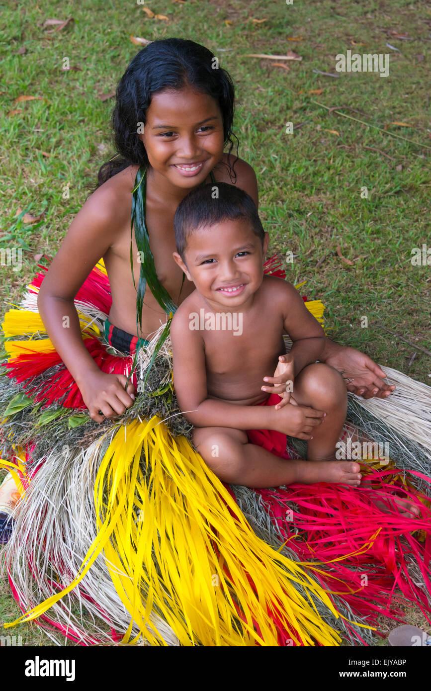 Island Girl Candy Mac Velvet Teddy Dupe: Micronesia Yap People Boy Stock Photos & Micronesia Yap