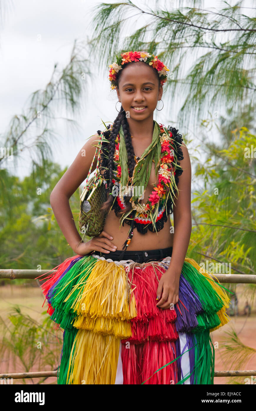 Island Girl Candy Mac Velvet Teddy Dupe: Yapese Girl In Traditional Clothing, Yap Island, Federated
