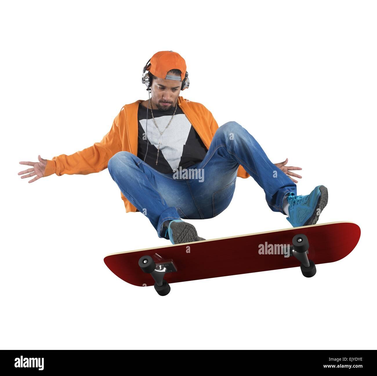 Skate stunts - Stock Image