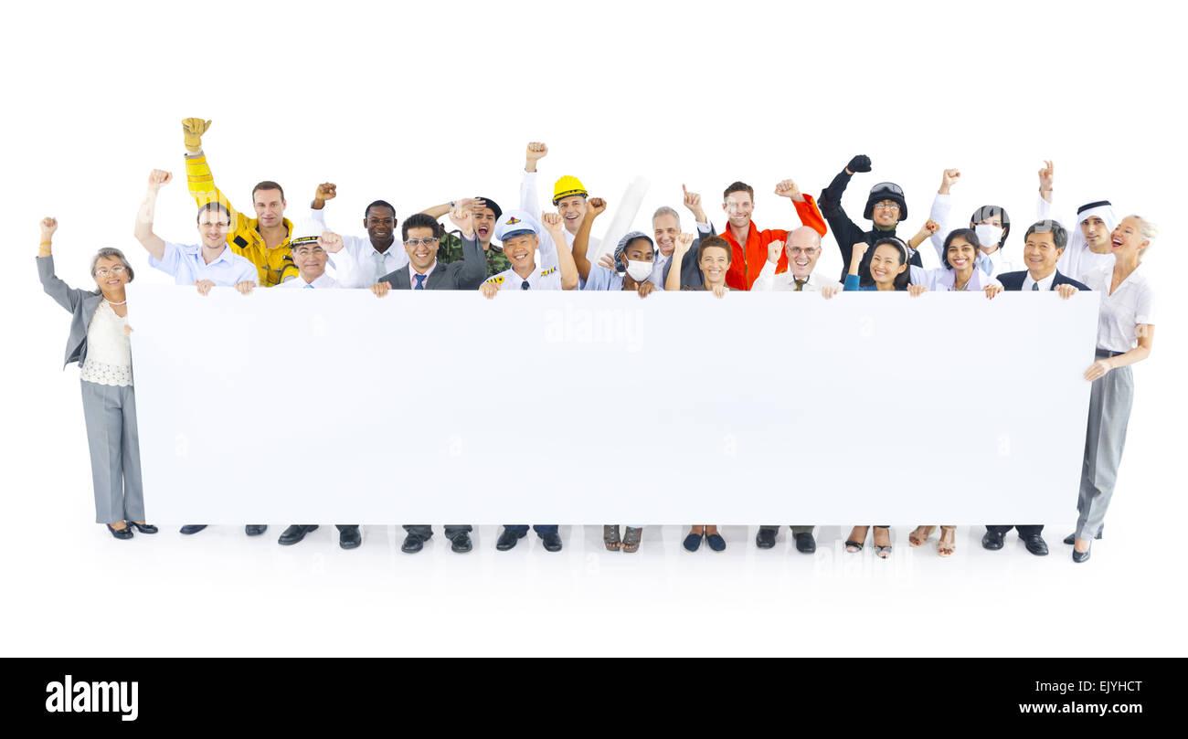 Group of multi-career celebration - Stock Image