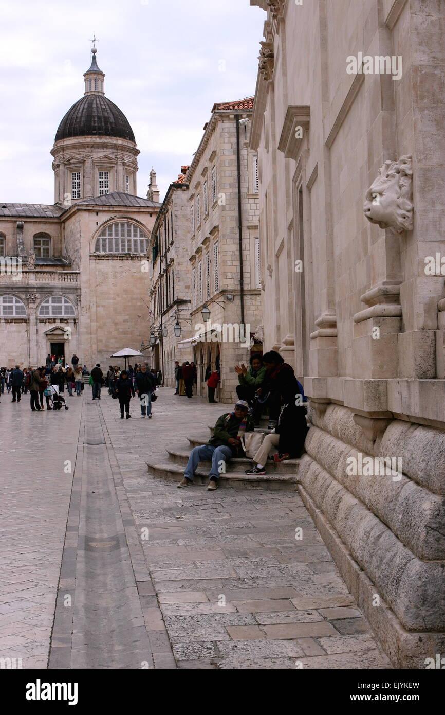 Street scene, Cubrovnik Stock Photo